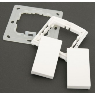 Kit d'installation pour le bouton radio KNX RF blanc pur